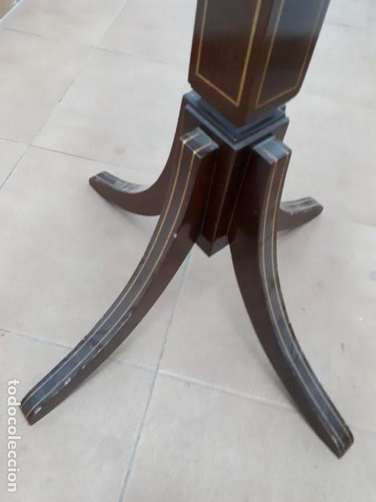 Antigüedades: Velador Mueble Pedestal de Madera. Altura: 129 cms. - Foto 4 - 130770688