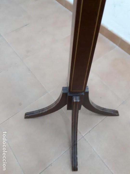 Antigüedades: Velador Mueble Pedestal de Madera. Altura: 129 cms. - Foto 5 - 130770688
