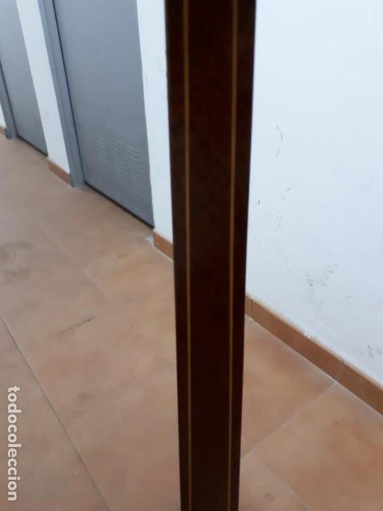 Antigüedades: Velador Mueble Pedestal de Madera. Altura: 129 cms. - Foto 6 - 130770688