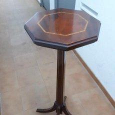 Antigüedades: VELADOR MUEBLE PEDESTAL DE MADERA. ALTURA: 129 CMS.. Lote 130770688