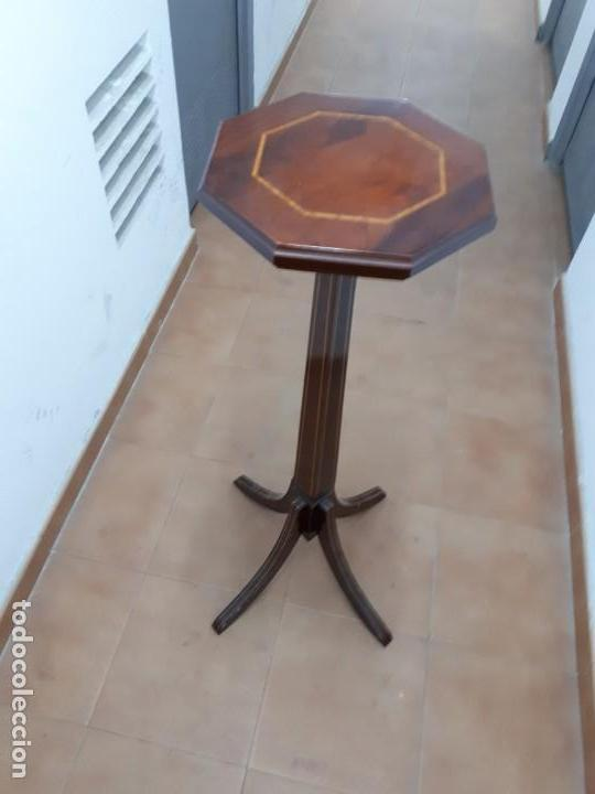 Antigüedades: Velador Mueble Pedestal de Madera. Altura: 129 cms. - Foto 2 - 130770688