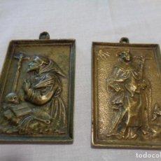Antigüedades: PORTAPACES BRONCE SIGLO XVIII. Lote 130780444