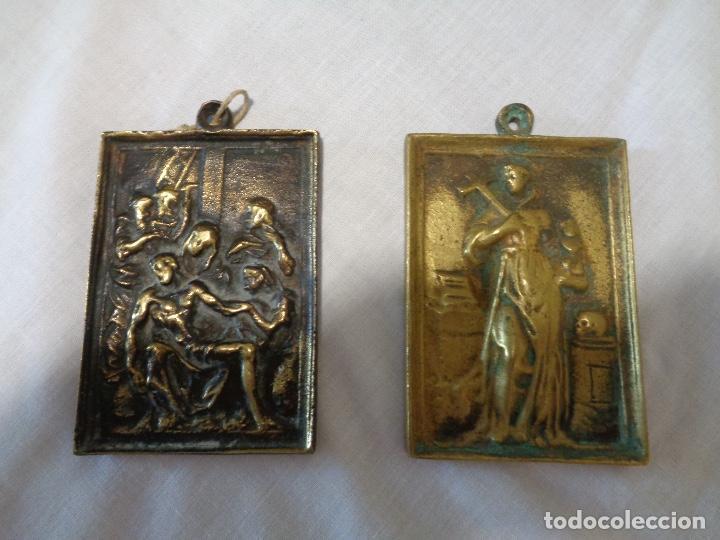 PORTAPACES BRONCE SIGLO XVIII (Antigüedades - Religiosas - Ornamentos Antiguos)