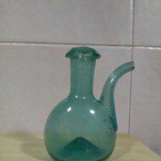 Antigüedades: ACEITERA EN VIDRIO SOPLADO CATALÁN SIGLO XVIII-XIX. Lote 130781800