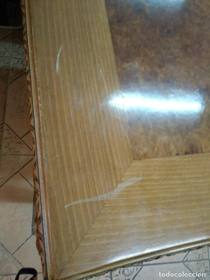 Antigüedades: Preciosa Mesa Despacho,madera noble tallada. - Foto 8 - 130792552