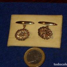 Antigüedades: ANTIGUOS GEMELOS,CHAPADOS O BAÑADOS EN ORO.. Lote 130793208