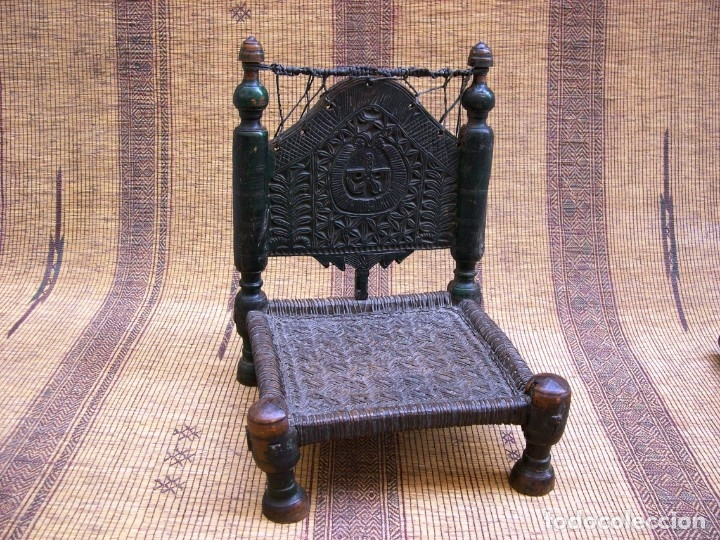 Antigüedades: ANTIGUA SILLA AFGANISTAN - Foto 3 - 130796824