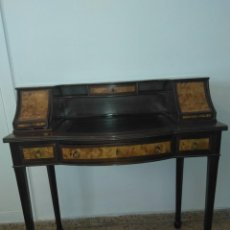 Antigüedades: ESCRITORIO CON MARQUETERIA. Lote 130803736