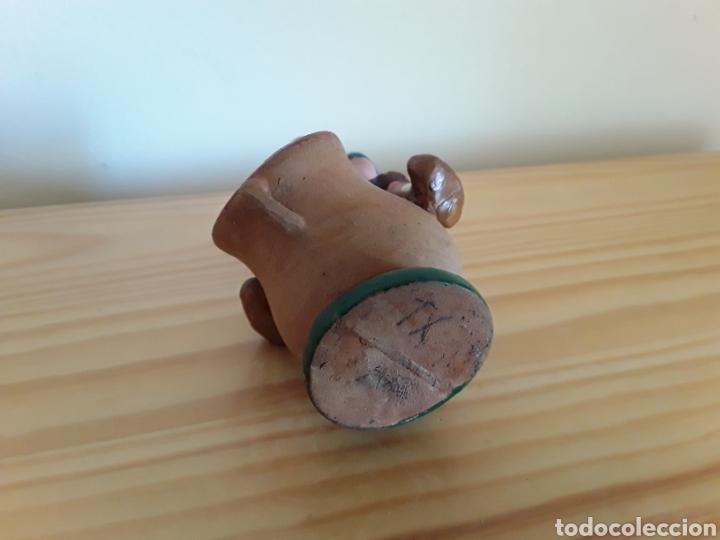 Antigüedades: Antiguo palillero barro cocido esmaltado - Foto 8 - 130814579