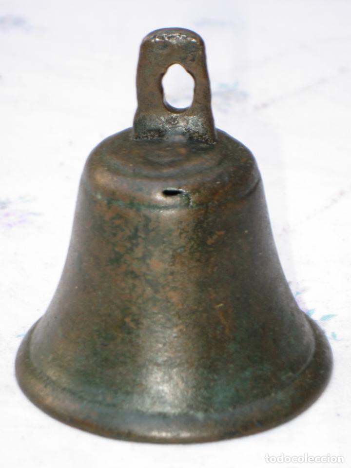 Antigüedades: CAMPANILLA ANTIGUA DE CONVENTO EN BRONCE - CAMPANA - 3 - Foto 2 - 130848804