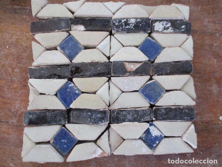 AZULEJOS MUDEJARES DEL SIGLO XVI O ANTERIORES (Antigüedades - Porcelanas y Cerámicas - Azulejos)