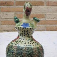 Antigüedades: BOTIJO DE COLECCION EN CERAMICA PINTADA Y VIDRIADA. Lote 130873428