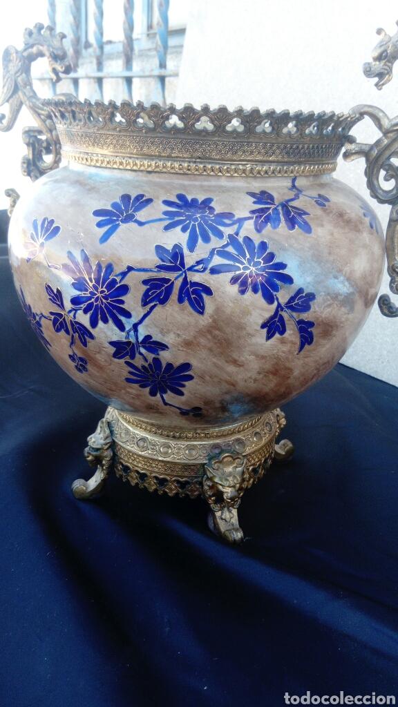 Antigüedades: CENTRO CHINO ESMALTADO - Foto 5 - 130901769