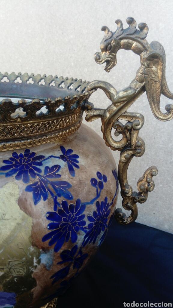 Antigüedades: CENTRO CHINO ESMALTADO - Foto 11 - 130901769