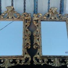 Oggetti Antichi: PAREJA DE ESPEJOS EN MADERA. Lote 130902119