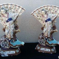 Antigüedades: PAREJA DE JARRONES CHINOS. Lote 130902495