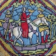 Antigüedades: ANTIGUO TAPETE BORDADO - COLECCIÓN. Lote 130931920