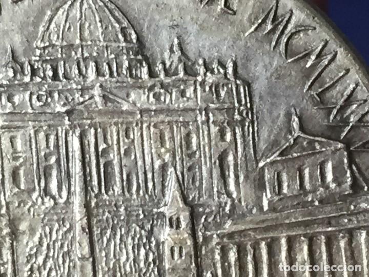 Antigüedades: PRECIOSA MEDALLA ROMA VATICANO AÑO SANTO JUBILEO 1975 UT UNUM SINT 35mm - Foto 3 - 130933604