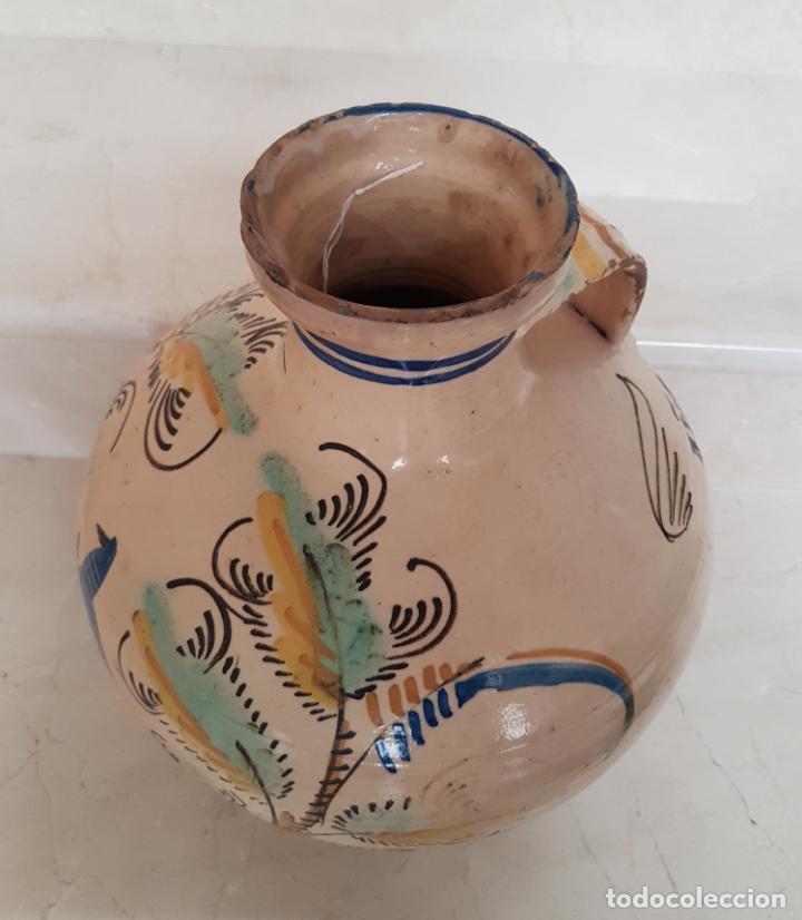 Antigüedades: PRECIOSO CANTARO EN CERAMICA DE PUENTE DEL ARZOBISPO FECHADO EN 1922 - Foto 8 - 130937236