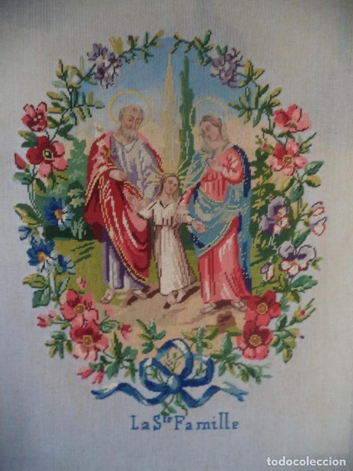 Antigüedades: Bordado realizado artesanalmente en convento por religiosas año 1884 - Foto 3 - 130937332