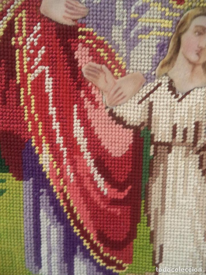 Antigüedades: Bordado realizado artesanalmente en convento por religiosas año 1884 - Foto 4 - 130937332