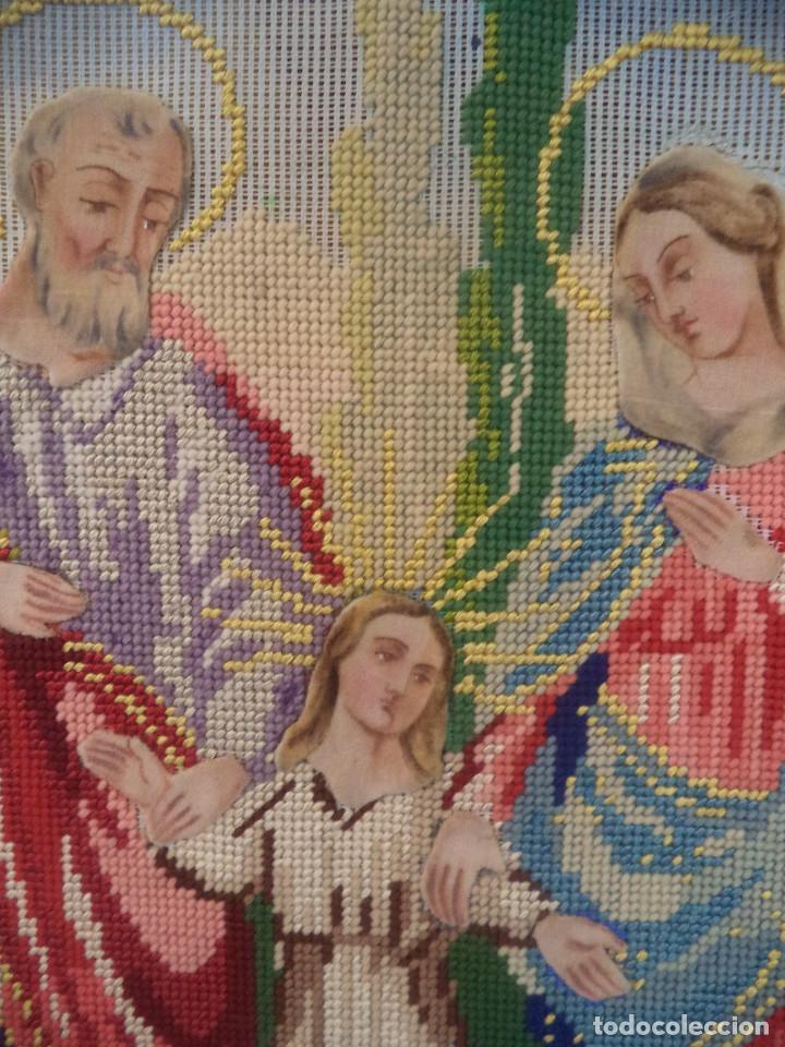Antigüedades: Bordado realizado artesanalmente en convento por religiosas año 1884 - Foto 9 - 130937332