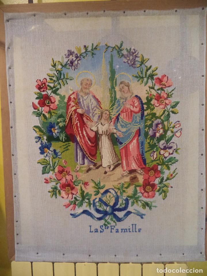 Antigüedades: Bordado realizado artesanalmente en convento por religiosas año 1884 - Foto 12 - 130937332