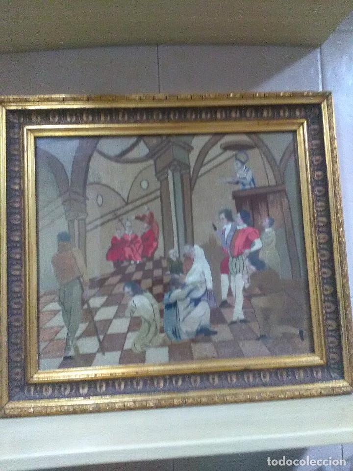 BORDADO RELIGIOSO ,SIGLO XIX (Antigüedades - Religiosas - Varios)