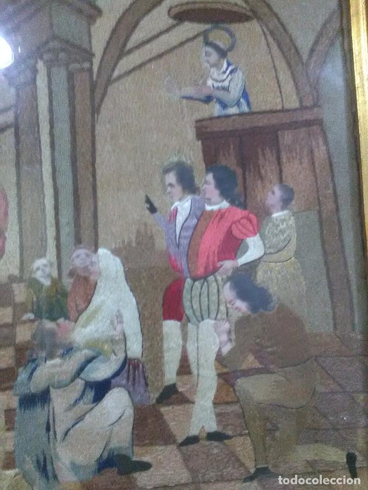 Antigüedades: Bordado religioso ,siglo XIX - Foto 2 - 130941640