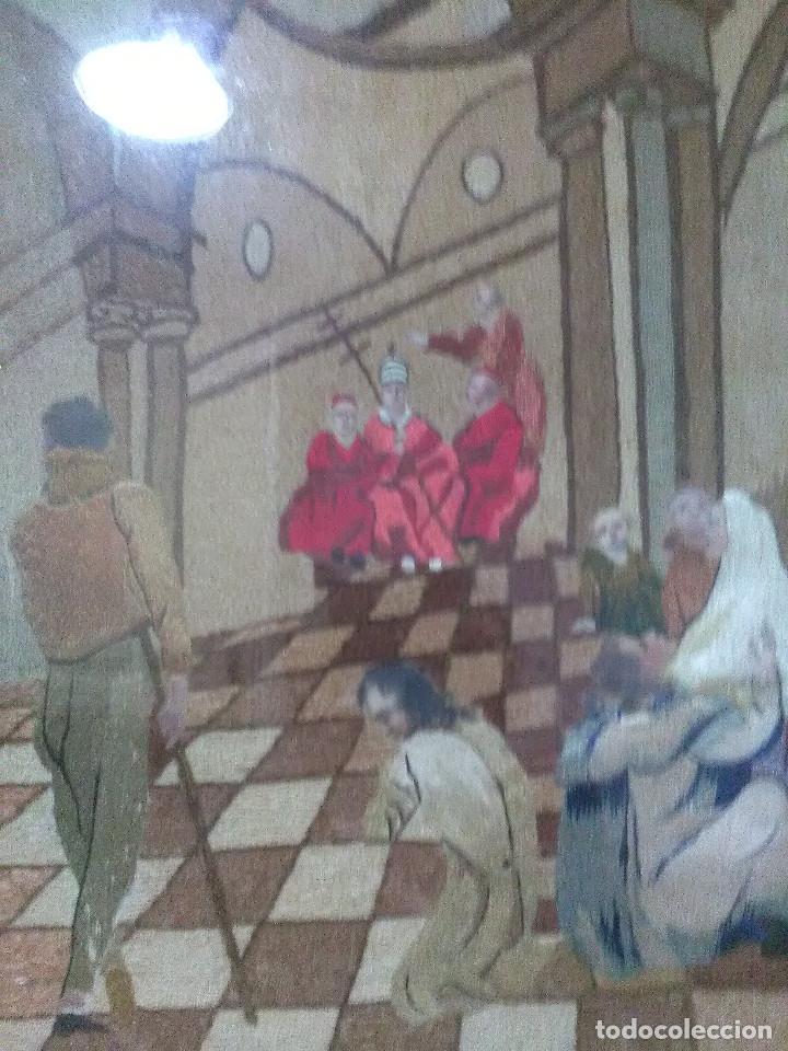 Antigüedades: Bordado religioso ,siglo XIX - Foto 3 - 130941640