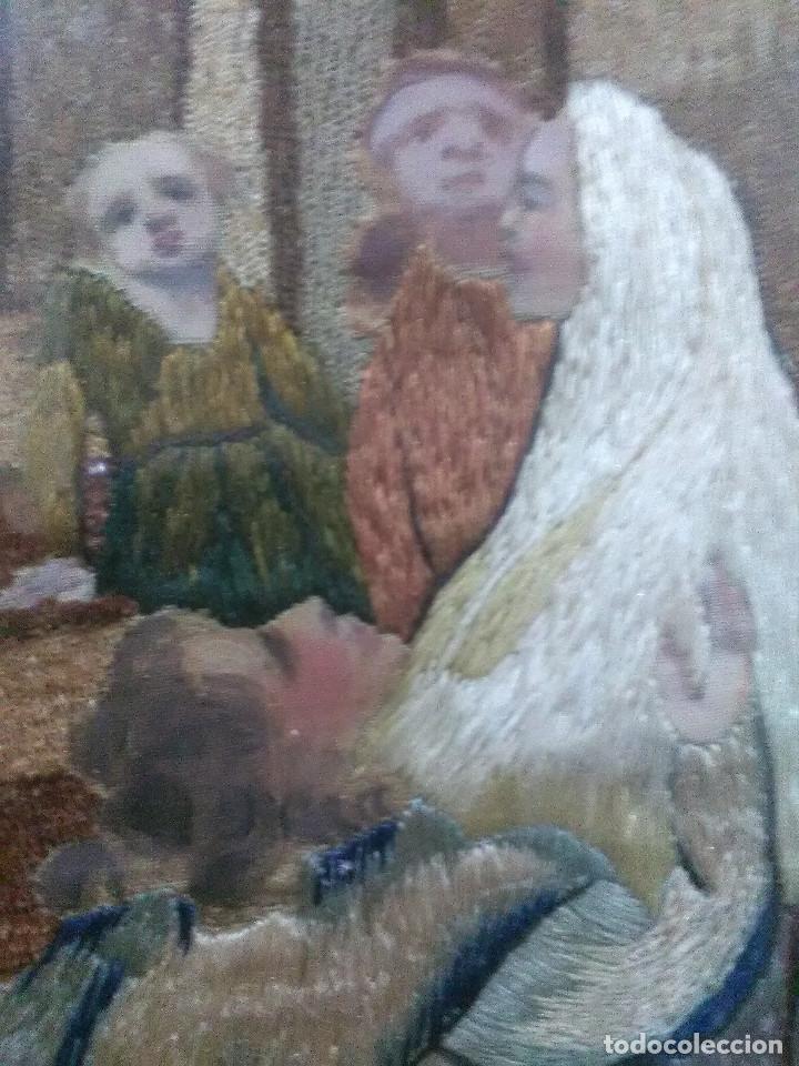 Antigüedades: Bordado religioso ,siglo XIX - Foto 5 - 130941640