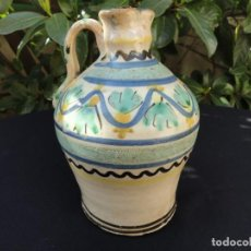 Antigüedades: CERÁMICA DECORADA CASTILLA: ALCUZA DE PUENTE. Lote 130974992