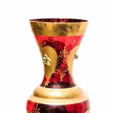 Antigüedades: ELEGANTE JARRON , BOHEMIA , PINTADO A MANO, EN EXCELENTE ESTADO. Lote 130978136