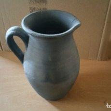 Antigüedades: JARRA PUCHERO CERAMICA NEGRA QUART GIRONA FIRMADO. Lote 131005236