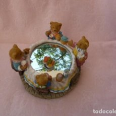 Antigüedades: FIGURA RESINA. MERIENDA DE LOS OSITOS. MUSICAL. Lote 131008320