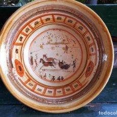 Antigüedades: PRECIOSO LEBRILLO PINTADO A MANO, UNA BELLEZA. Lote 131011872