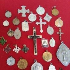 Antigüedades: LOTE MEDALLAS RELIGIOSAS. Lote 131052496