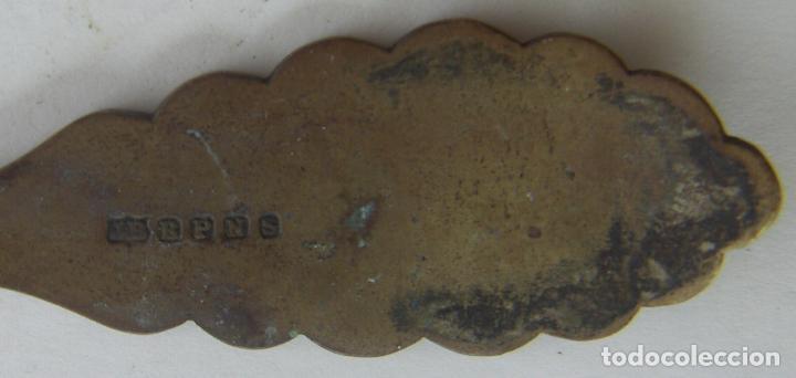 Antigüedades: VIEJO CUCHARON INGLES PLATEADO PUNZONADO JB B P N S - Foto 4 - 131055644