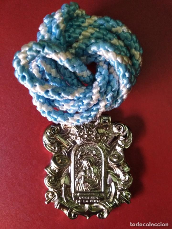 MEDALLA HERMANDAD CINTA HUELVA (Antigüedades - Religiosas - Medallas Antiguas)