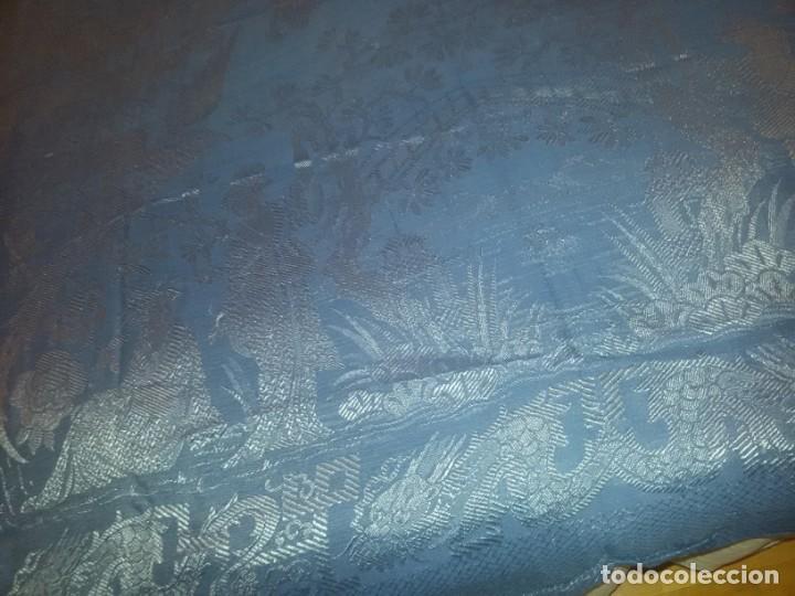 Antigüedades: DOS ANTIGUAS COLCHAS ALGODÓN Y SEDA - Foto 3 - 217444425