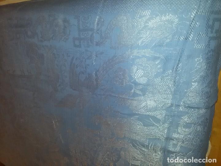 Antigüedades: DOS ANTIGUAS COLCHAS ALGODÓN Y SEDA - Foto 4 - 217444425