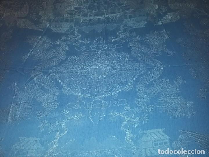 Antigüedades: DOS ANTIGUAS COLCHAS ALGODÓN Y SEDA - Foto 5 - 217444425