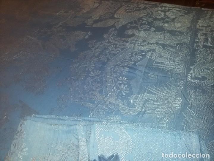 Antigüedades: DOS ANTIGUAS COLCHAS ALGODÓN Y SEDA - Foto 10 - 217444425
