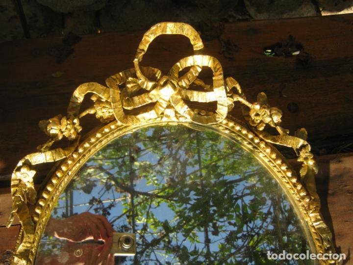 Antigüedades: c.1800. Jorge III. Antiguo espejo oval de 3 luces Rococó - Georgian Gilt Gesso Oval Girandole Mirror - Foto 10 - 131124772
