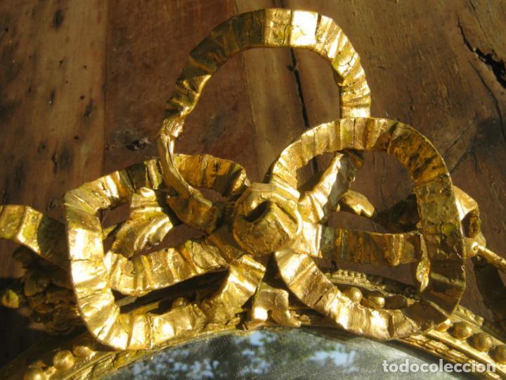 Antigüedades: c.1800. Jorge III. Antiguo espejo oval de 3 luces Rococó - Georgian Gilt Gesso Oval Girandole Mirror - Foto 13 - 131124772