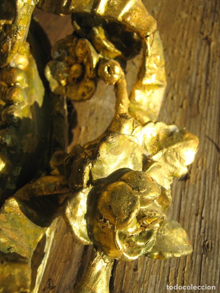 Antigüedades: c.1800. Jorge III. Antiguo espejo oval de 3 luces Rococó - Georgian Gilt Gesso Oval Girandole Mirror - Foto 18 - 131124772
