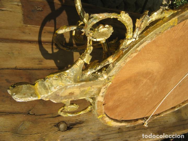 Antigüedades: c.1800. Jorge III. Antiguo espejo oval de 3 luces Rococó - Georgian Gilt Gesso Oval Girandole Mirror - Foto 19 - 131124772