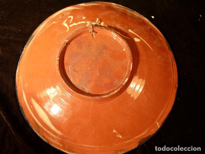 Antigüedades: PLATO DE CERAMICA DE LA BISBAL FIRMADO PUIGDEMONT - Foto 6 - 131140572