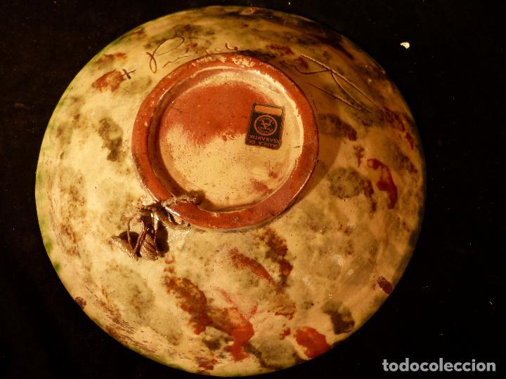 Antigüedades: PLATO DE CERAMICA DE LA BISBAL FIRMADO PUIGDEMONT - Foto 5 - 131140728