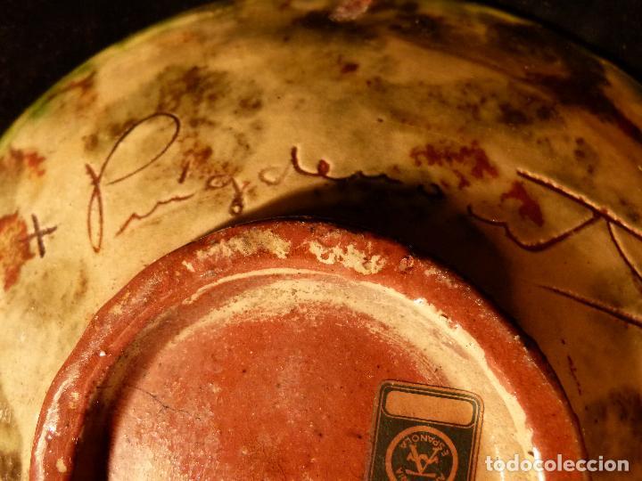 Antigüedades: PLATO DE CERAMICA DE LA BISBAL FIRMADO PUIGDEMONT - Foto 6 - 131140728